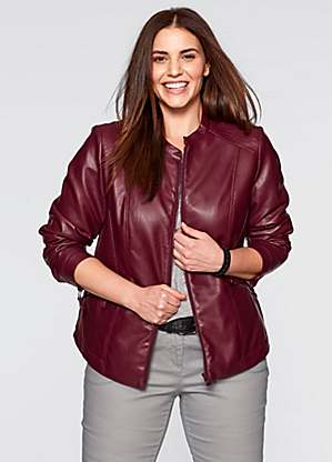 latest collection factory outlets Clearance sale Plus Size Leather Jackets | Faux Leather Jackets | Curvissa