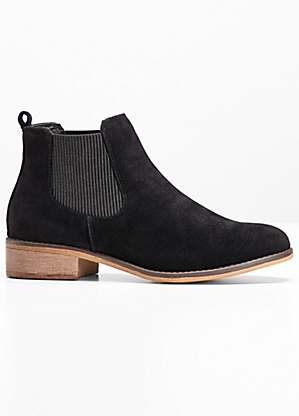 color brilliancy large discount how to buy Faux Suede Chelsea Boots
