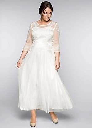 Floral Appliqué Bridal Dress