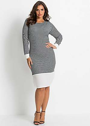 Christmas Ball Gowns Plus Size.Houndstooth Shift Dress