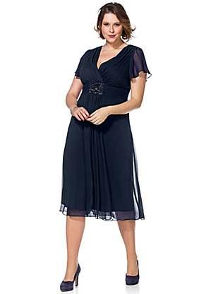 Wrap-Over Evening Dress