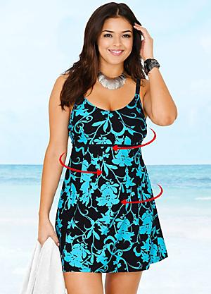 cc457c9e1b7 Floral Print Swim Dress