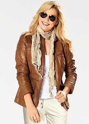06f21d656073da Heine Zip Detail Leather Biker Jacket
