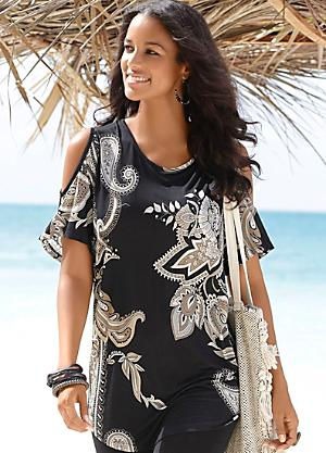e88c8f495ba04 Lascana Paisley Cold Shoulder Top