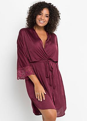 68fd558da0b14 Satin   Lace Dressing Gown