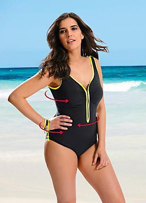 87872e64e229c V-Neck Shaper Swimsuit