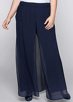 0e8526bb12d ... Plus Size TV Advert! Wide Leg Trousers