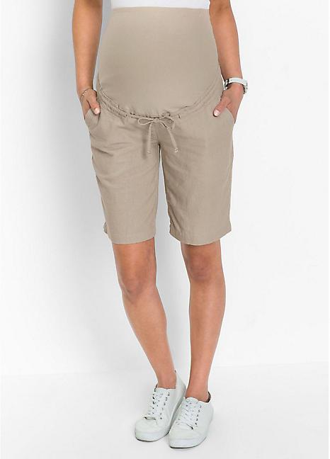 5870d076afb8d Maternity Linen Shorts by Bonprix | Curvissa
