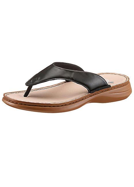 c733901eb23 Rieker Leather Toe-Post Sandals | Curvissa