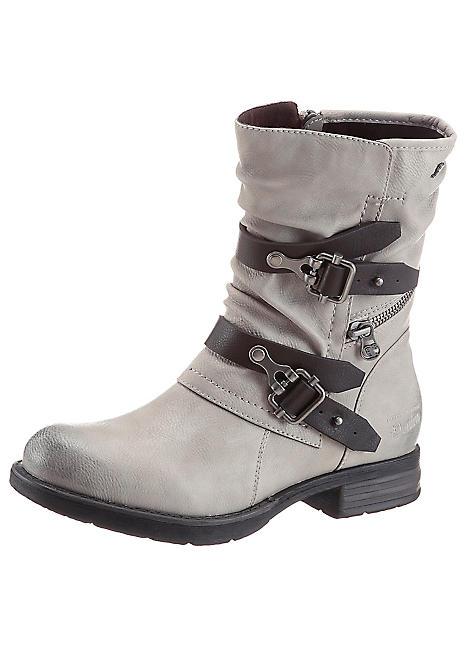 tom tailor leather ankle boots curvissa. Black Bedroom Furniture Sets. Home Design Ideas