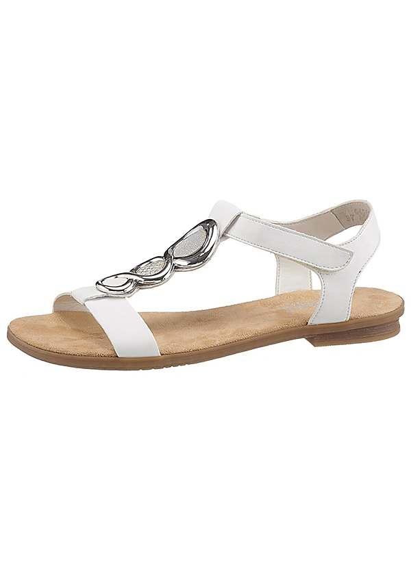 pretty nice 430d5 b1aba Rieker Jewel Embellished Flat Sandals