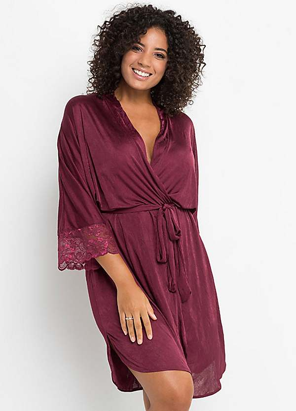 Satin Lace Dressing Gown